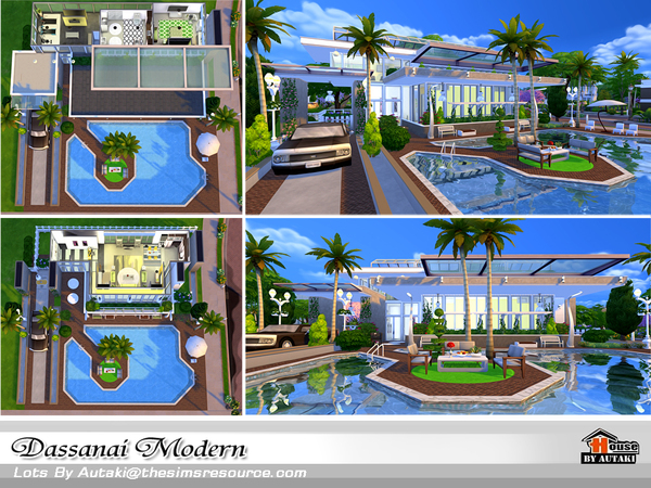 Dassanai Modern house by autaki at TSR image 4713 Sims 4 Updates