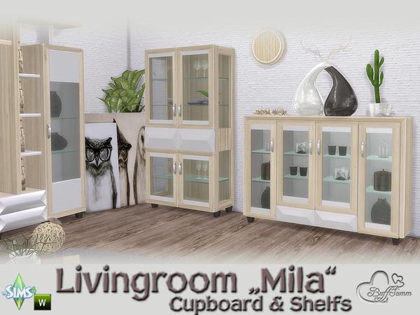 Mila Living Cupboard & Shelfs by BuffSumm at TSR image 474 Sims 4 Updates