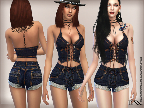 Vintage Jeans Denim Set by EsyraM at TSR image 476 Sims 4 Updates