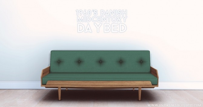 Sims 4 1960s Danish Mid century Daybed at Onyx Sims