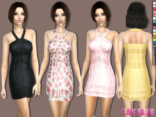 Sims 4 Casual summer dress by sims2fanbg at TSR