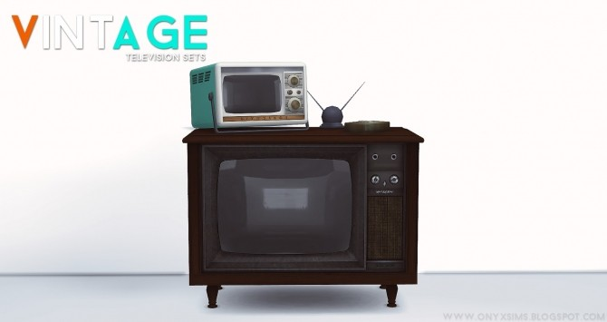 Sims 4 2 Vintage Televisions at Onyx Sims