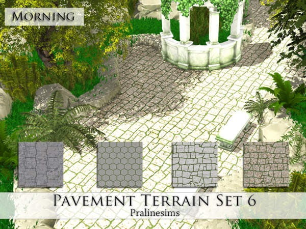 Pavement Terrain Set 6 by Pralinesims at TSR image 4812 Sims 4 Updates