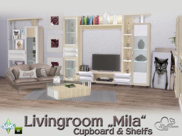 Mila Living Cupboard & Shelfs by BuffSumm at TSR image 484 Sims 4 Updates