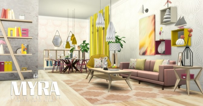 Myra living at simsational designs sims 4 updates for Living room designs sims 4