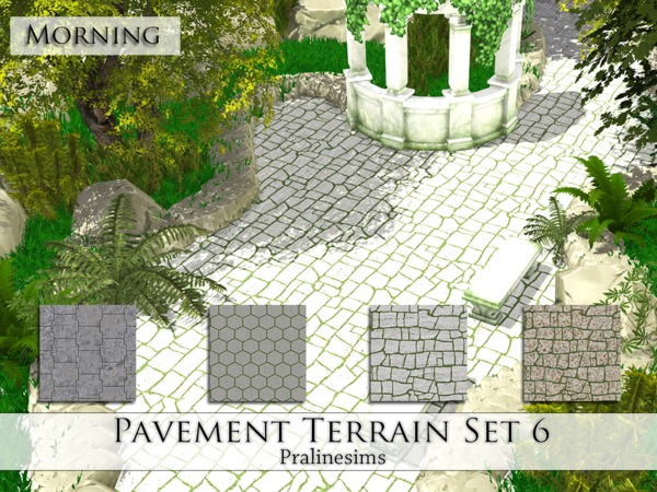 Pavement Terrain Set 6 by Pralinesims at TSR image 4913 Sims 4 Updates