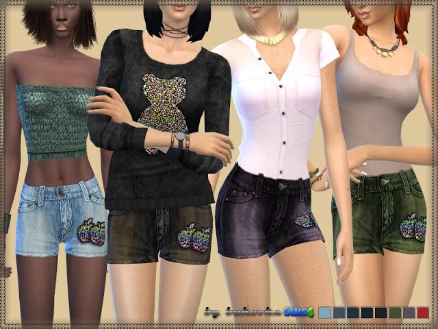 Sims 4 Samantha shorts at Bukovka