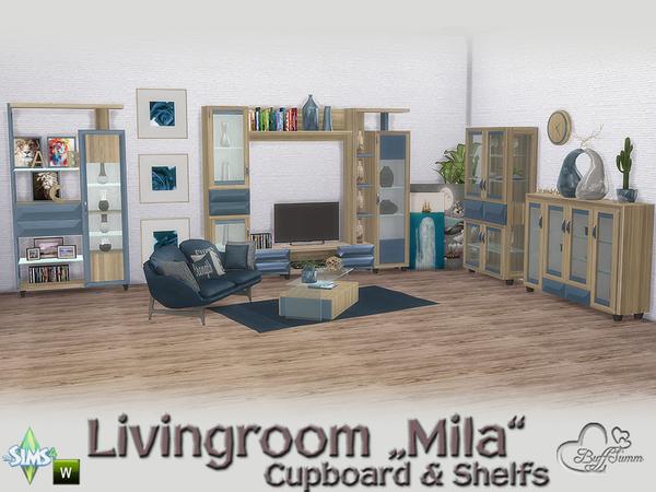 Mila Living Cupboard & Shelfs by BuffSumm at TSR image 494 Sims 4 Updates