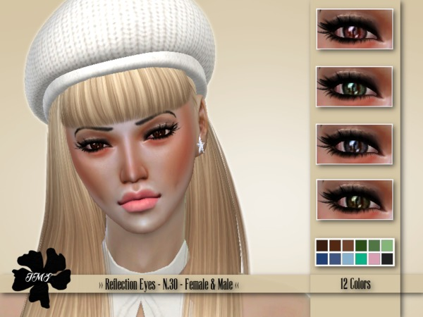 Sims 4 IMF Reflection Eyes N.30 F/M by IzzieMcFire at TSR