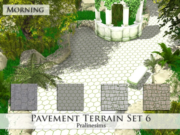 Pavement Terrain Set 6 by Pralinesims at TSR image 5012 Sims 4 Updates