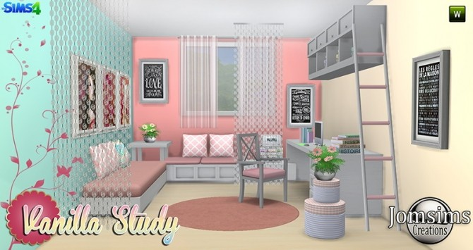 Vanilla Study room at Jomsims Creations image 5013 670x355 Sims 4 Updates