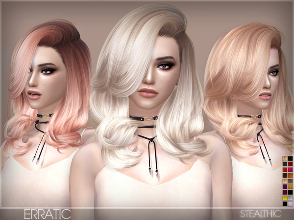 Sims 4 Erratic Female Hair by Stealthic at TSR