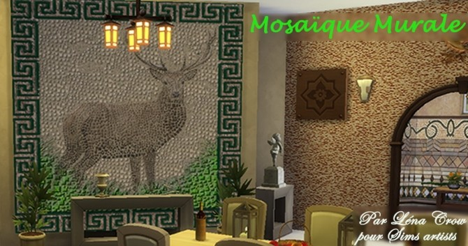 Ancient mosaic mural by LénaCrow at Sims Artists image 5061 670x353 Sims 4 Updates