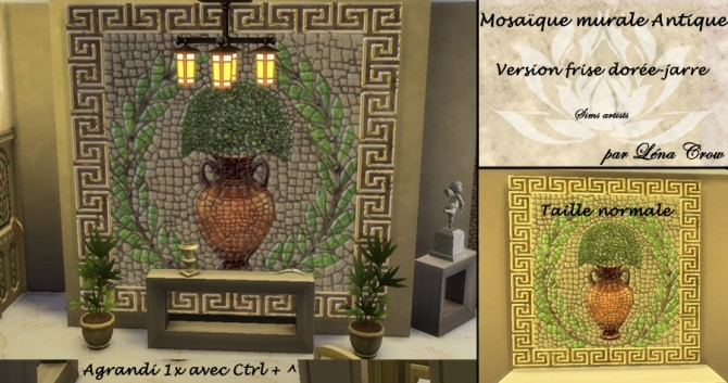 Ancient mosaic mural by LénaCrow at Sims Artists image 5071 670x353 Sims 4 Updates