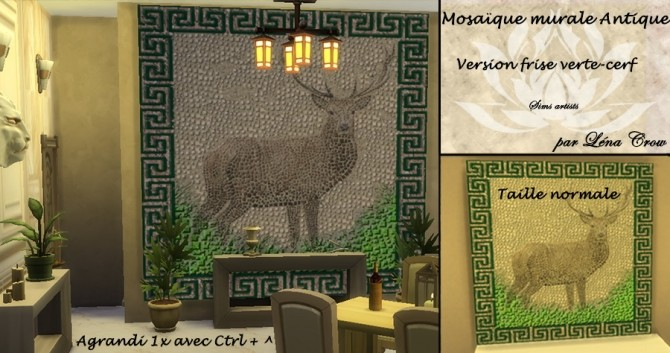 Ancient mosaic mural by LénaCrow at Sims Artists image 508 670x353 Sims 4 Updates
