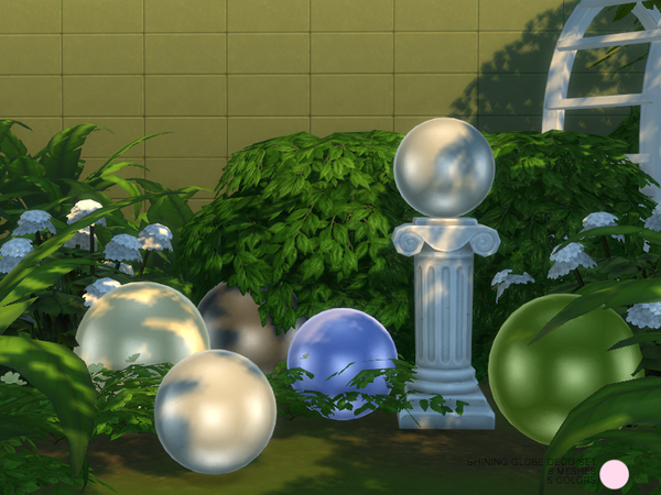 Shining Globe Deco Sculpture Set by DOT at TSR image 5102 Sims 4 Updates