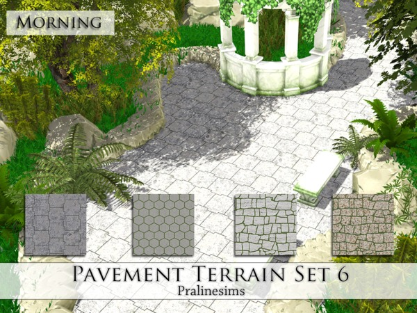 Pavement Terrain Set 6 by Pralinesims at TSR image 5115 Sims 4 Updates