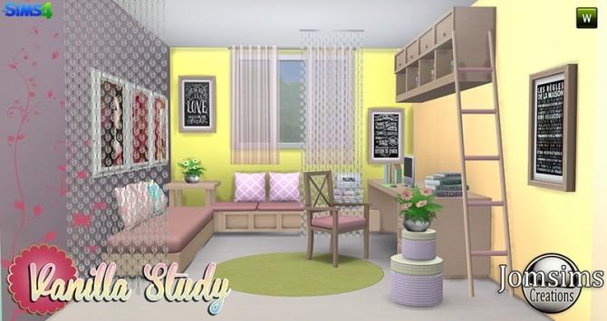 Vanilla Study room at Jomsims Creations image 5116 670x355 Sims 4 Updates