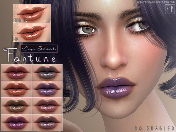 Sims 4 Fortune Metallic Lip Gloss by Screaming Mustard at TSR