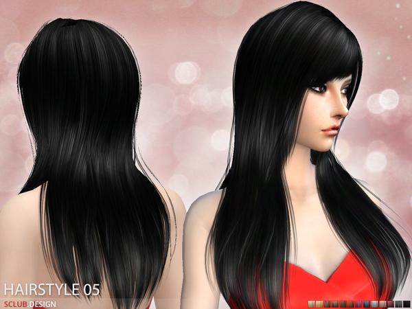 Sims 4 Hair N5 by S Club at TSR