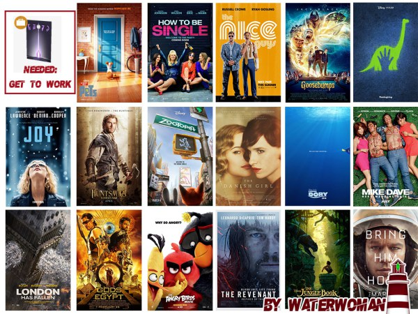 Movie Posters Of 2016 Part One By Waterwoman At Akisima