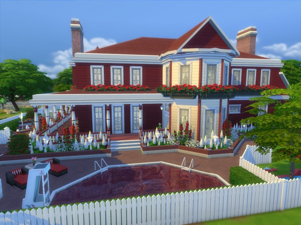 Sims 4 The Kensington house by sharon337 at TSR