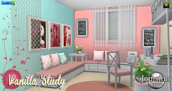 Vanilla Study room at Jomsims Creations image 5414 670x355 Sims 4 Updates
