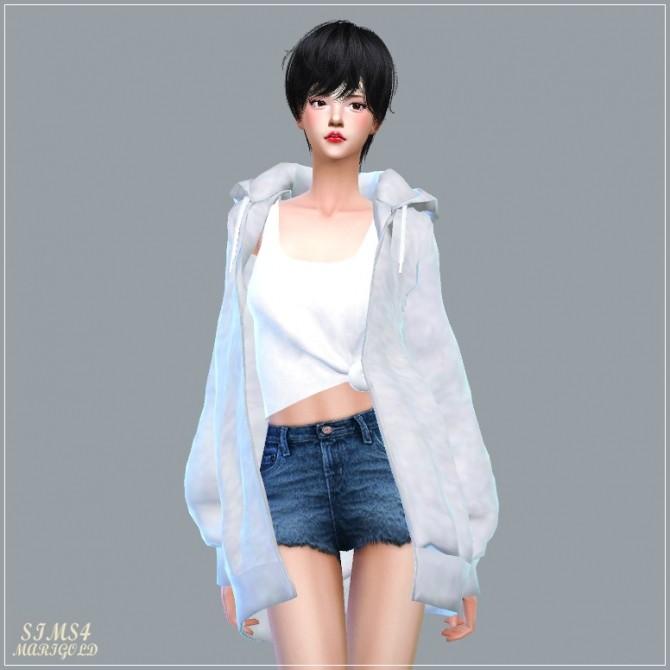 Sims 4 ACC Loosefit Hood Jacket Long version at Marigold