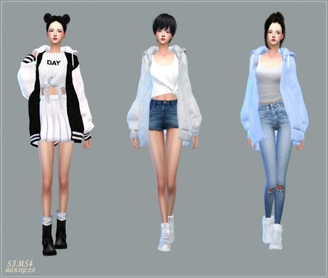 ACC Loosefit Hood Jacket Long version at Marigold image 5461 670x568 Sims 4 Updates