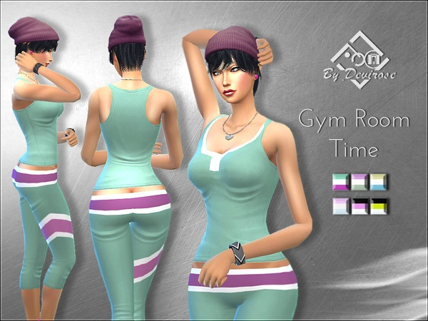 Gym room time sport outfit by devirose at tsr sims updates