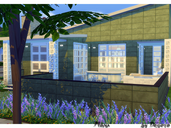 Sims 4 Manx house by Degera at TSR