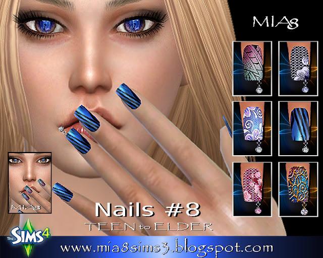 Sims 4 Nails # 8 (Piercing nails) at MIA8
