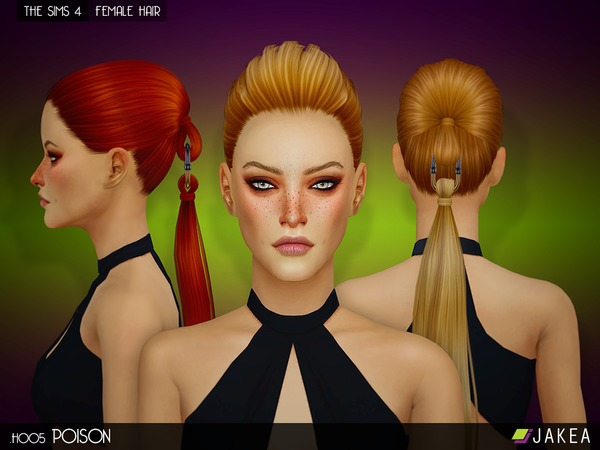 H005 POISON Female Hair by JAKEASims at TSR image 6111 Sims 4 Updates