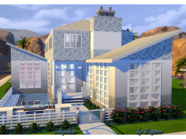 Angelica house by Degera at TSR image 6113 Sims 4 Updates