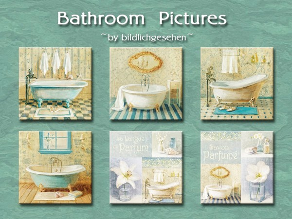 Bathroom pictures by Bildlichgesehen at Akisima image 613 Sims 4 Updates