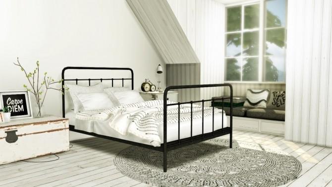 Sims 4 Teyon Bed at MXIMS