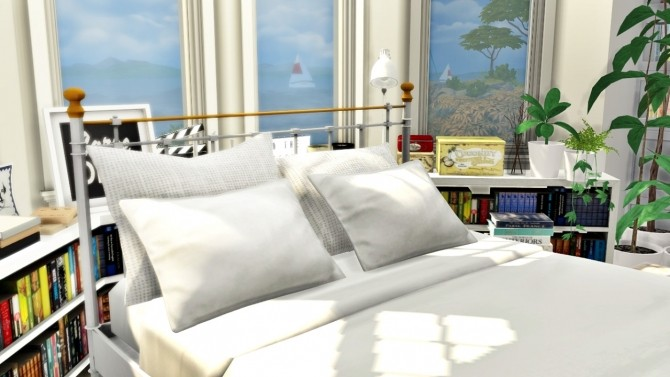 Sims 4 Bed and Plants Conversion at MXIMS