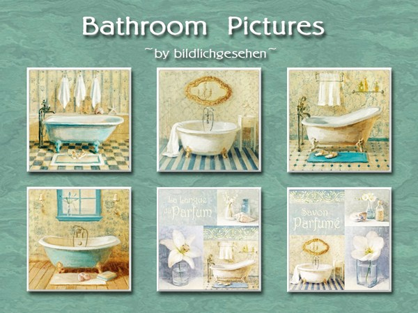 Bathroom pictures by Bildlichgesehen at Akisima image 622 Sims 4 Updates