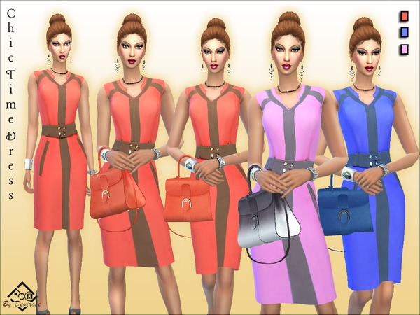 Chic Time Dress by Devirose at TSR image 625 Sims 4 Updates