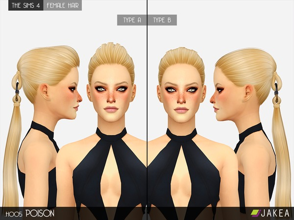 H005 POISON Female Hair by JAKEASims at TSR image 628 Sims 4 Updates