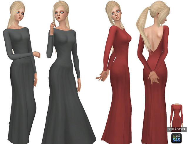 Backless Gown Recolours at Simista image 629 Sims 4 Updates