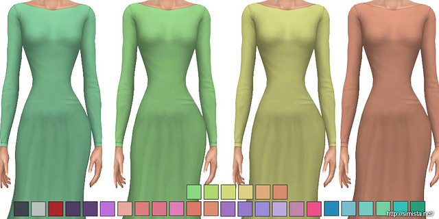Backless Gown Recolours at Simista image 630 Sims 4 Updates