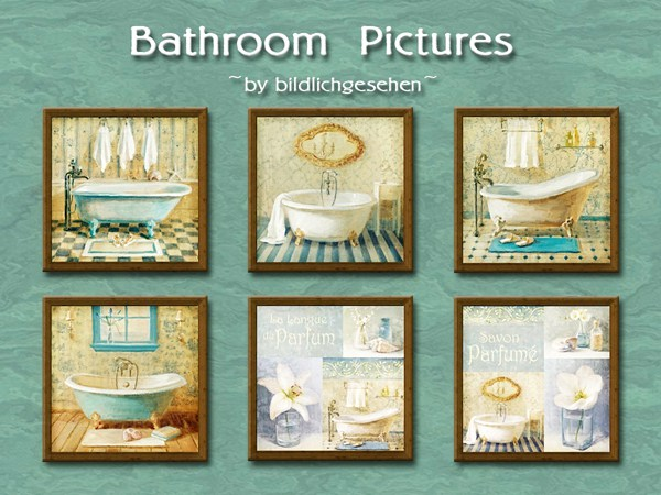 Bathroom pictures by Bildlichgesehen at Akisima image 631 Sims 4 Updates