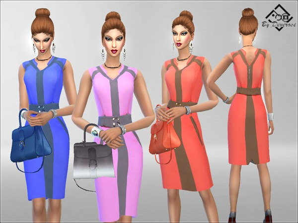 Sims 4 Chic Time Dress by Devirose at TSR