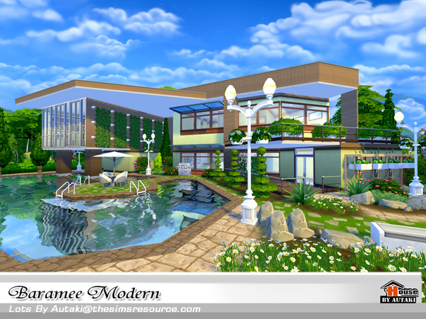 Baramee Modern house by autaki at TSR image 65 Sims 4 Updates