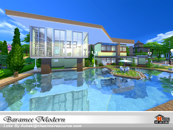 Baramee Modern house by autaki at TSR image 66 Sims 4 Updates