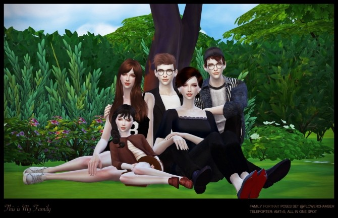 Family Portrait Poses Set At Flower Chamber 187 Sims 4 Updates