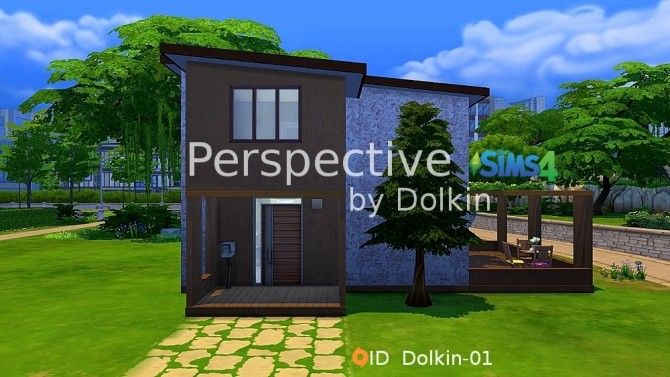 Sims 4 Perspective starter home by Dolkin at ihelensims
