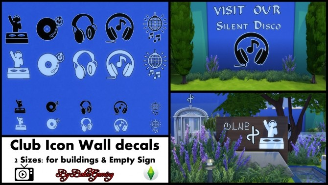 Club Icon Wall Decals Pack By Bakie At Mod The Sims