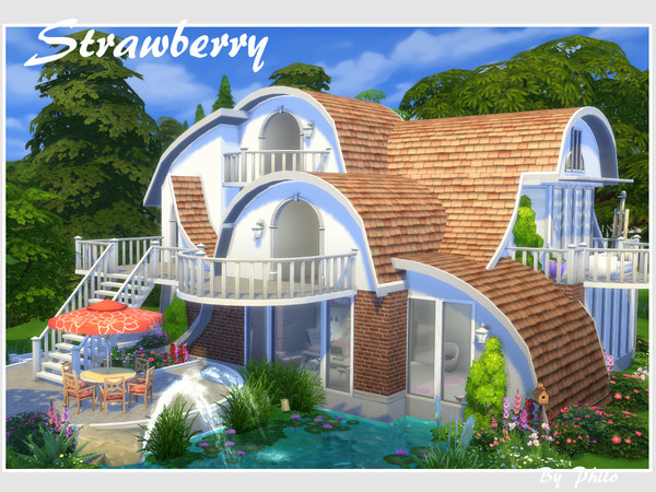 Strawberry house No CC by philo at TSR image 664 Sims 4 Updates